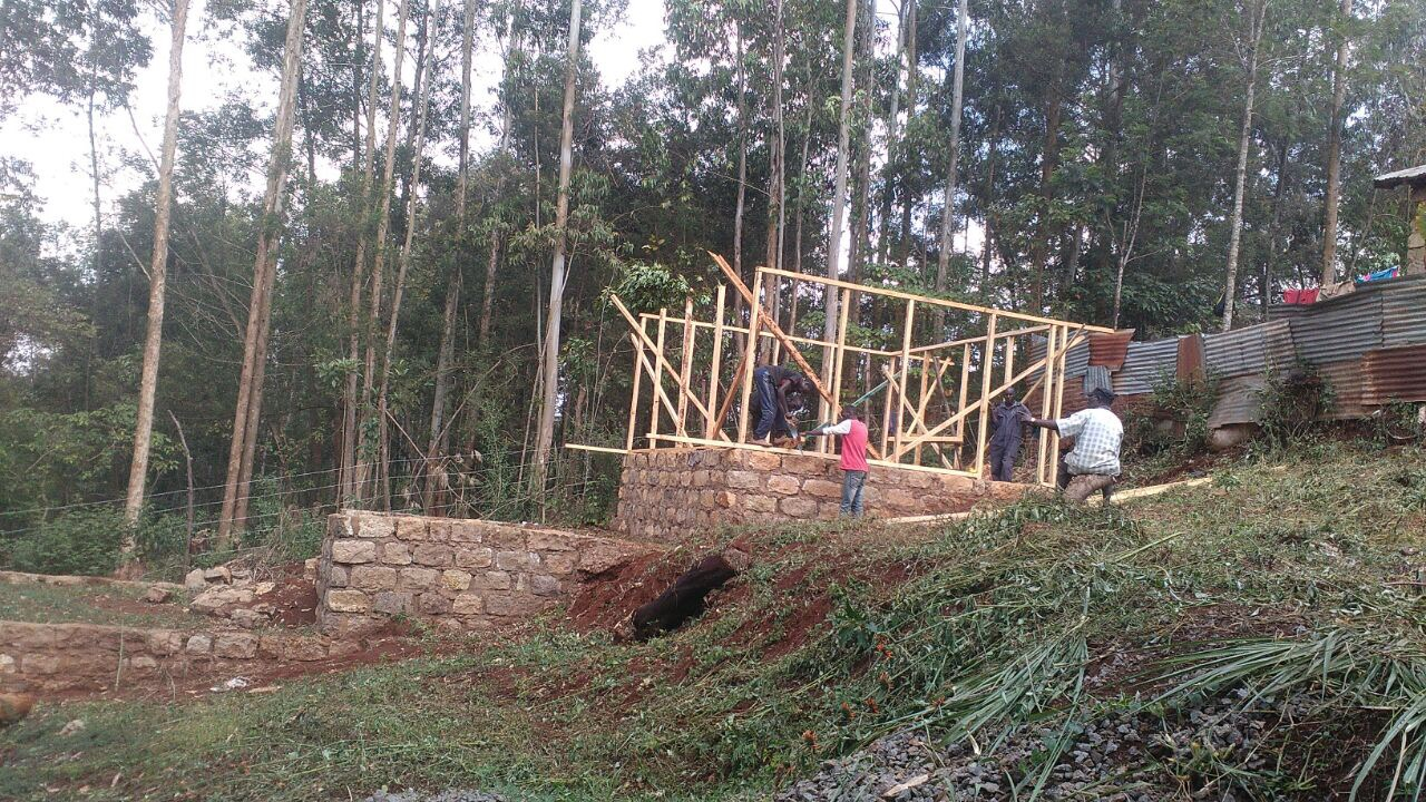 Bouw eerste huis