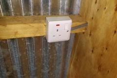 Stopcontact en lichtknopje