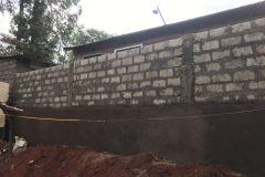 Muur is afgerond